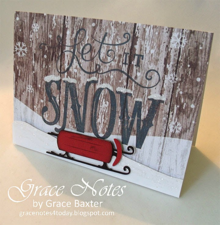 Let It Snow, Christmas card by Grace Baxter
