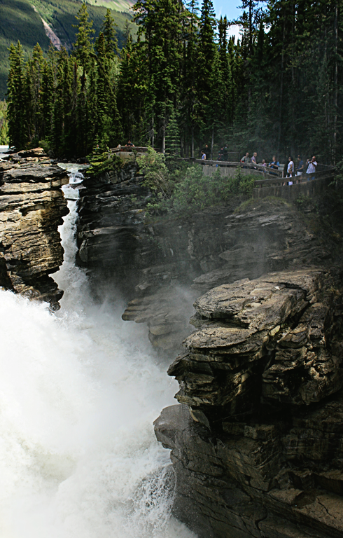 athabasca falls jasper alberta rocky mountains travel photography
