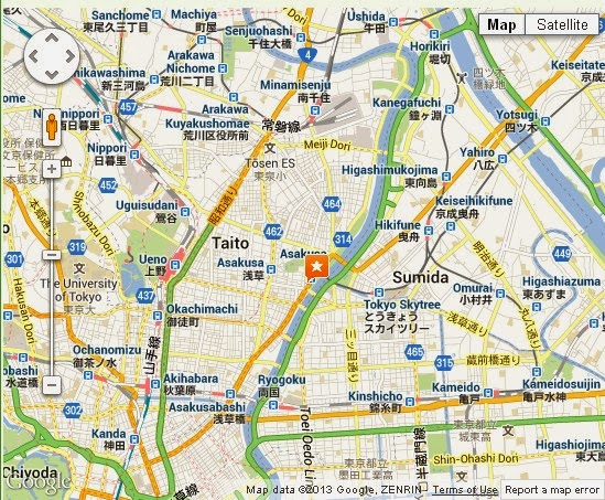 Detail Asakusa Shrine Tokyo Location Map