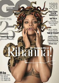 See Rihanna Scary Cover for GQ Magazine .