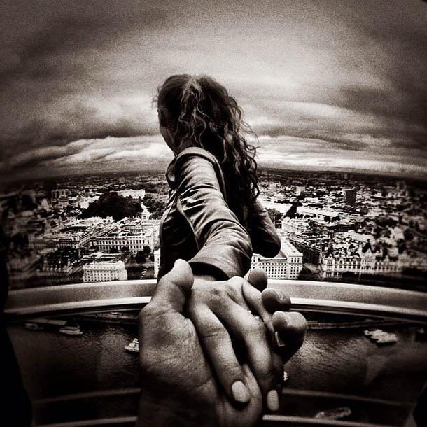 Follow Me To - London Eye - Fotógrafo Murad Osmann segue a namorada pelo mundo