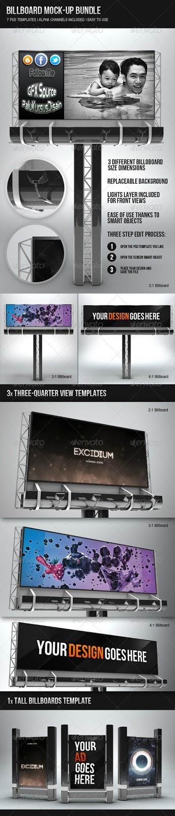 Graphicriver Billboard Mock-up Bundle