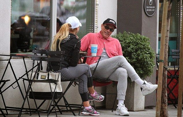 A coffee run could be look so stylish, cause Jean-Claude Van Damme's think that he was made the right call at a small shop in Santa Monica on Wednesday, January 28, 2015.