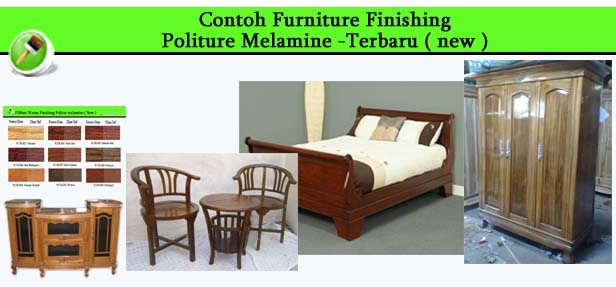 Contoh Furniture finishing Politure Melamine New