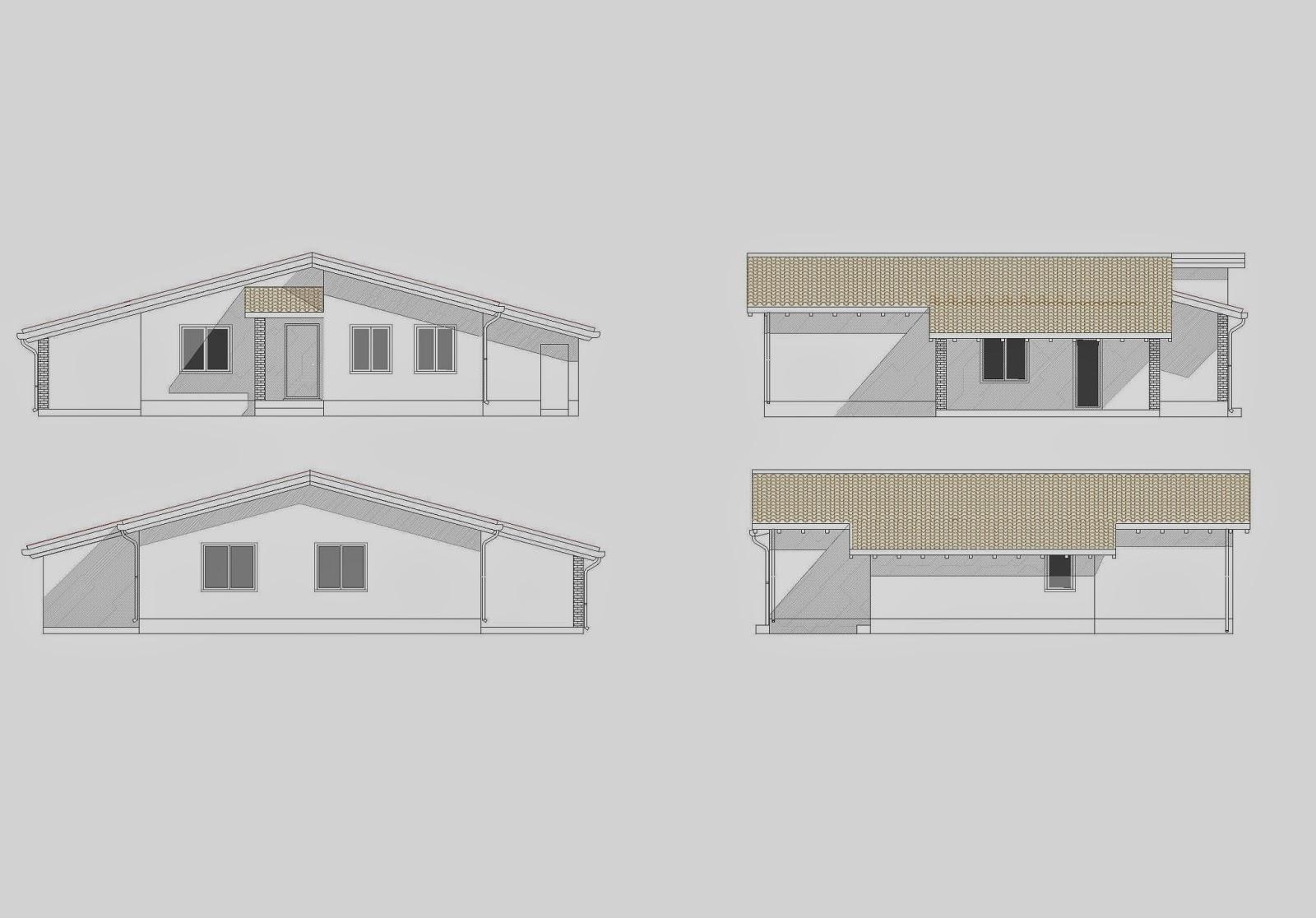 Progetti di case in legno casa 143 mq porticati 24 mq - Progetto casa 60 mq ...