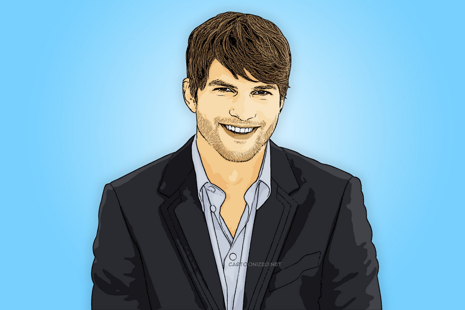Ashton Kutcher Cartoon