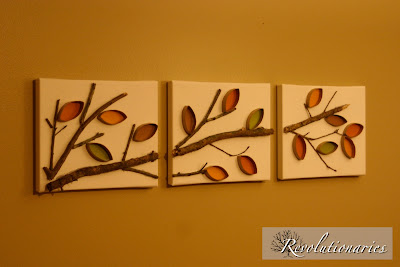 fall leaf 3D wall art