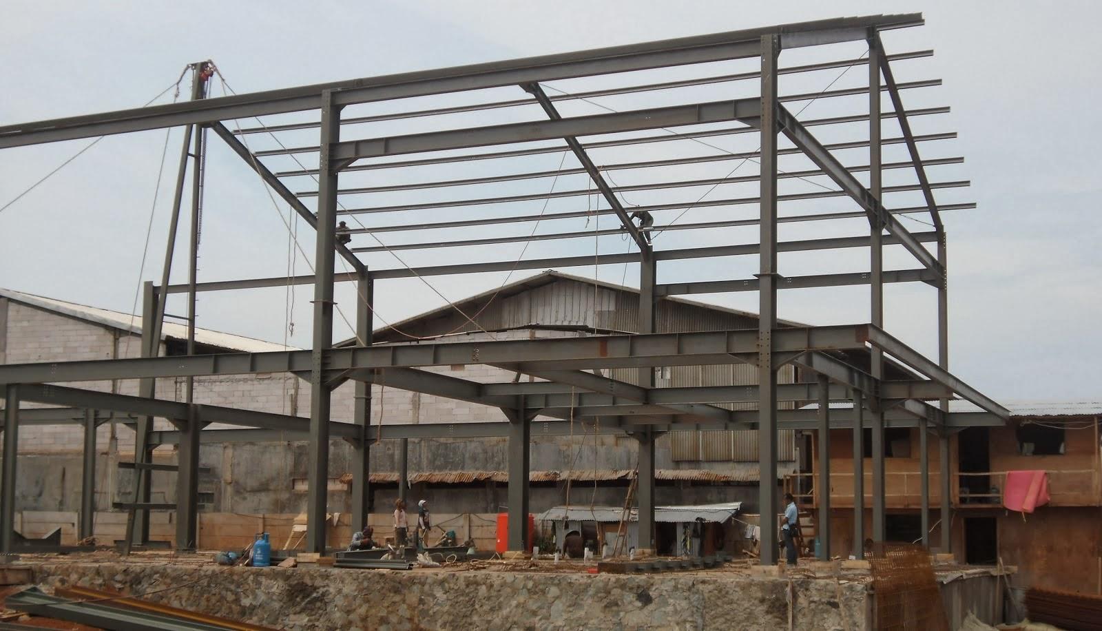 konstruksi baja wf bogor rangka atap baja ringan di bogor