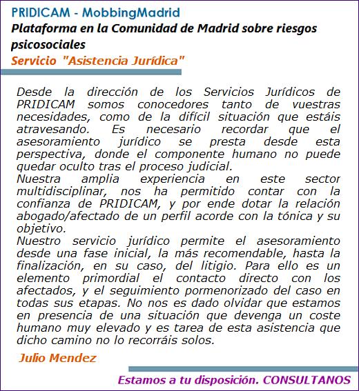 MobbingMadrid Servicio Juridico