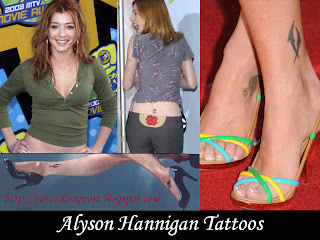 Alyson Hannigan Tattoos - Female Celebrity Tattoo Ideas