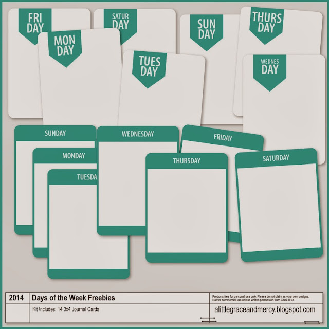 Digital Freebie | Days of the Week Pocket Cards