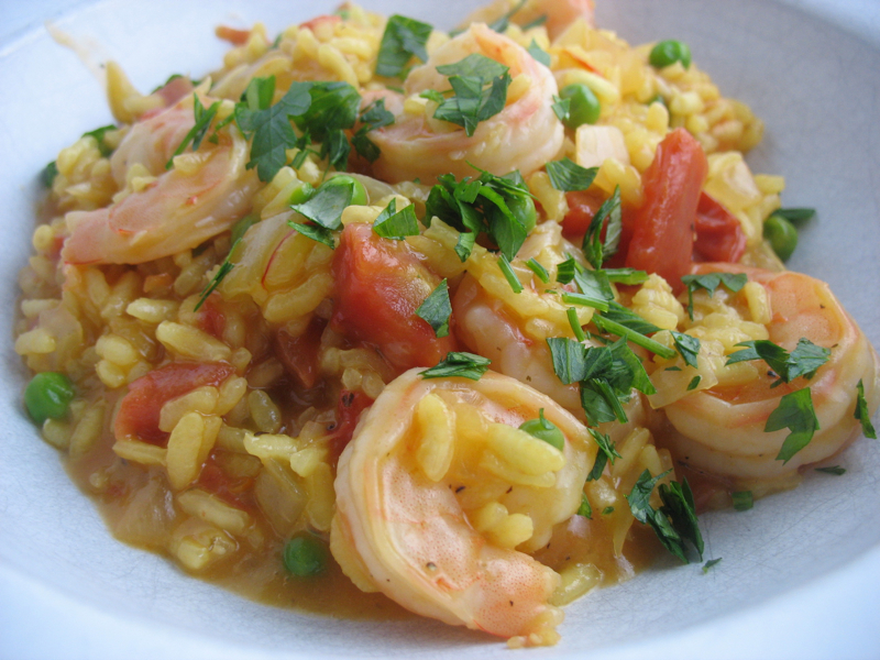 The Hungry Dog: Risotto with saffron and shrimp