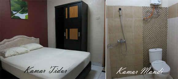 Kamar Tidur & Kamar Mandi Hotel Davinci