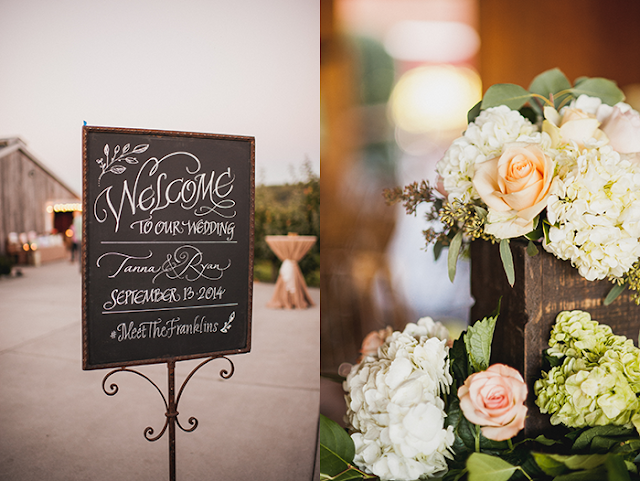 Chalkboard Welcome + flower boxes