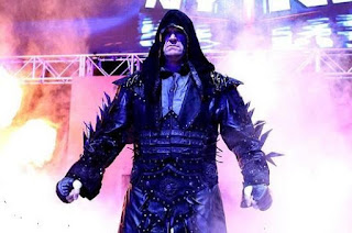 Undertaker dangerous entrance after head shaved