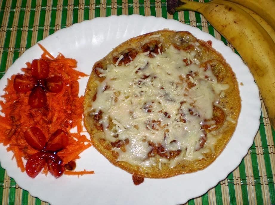 Receita de omelete com banana e queijo