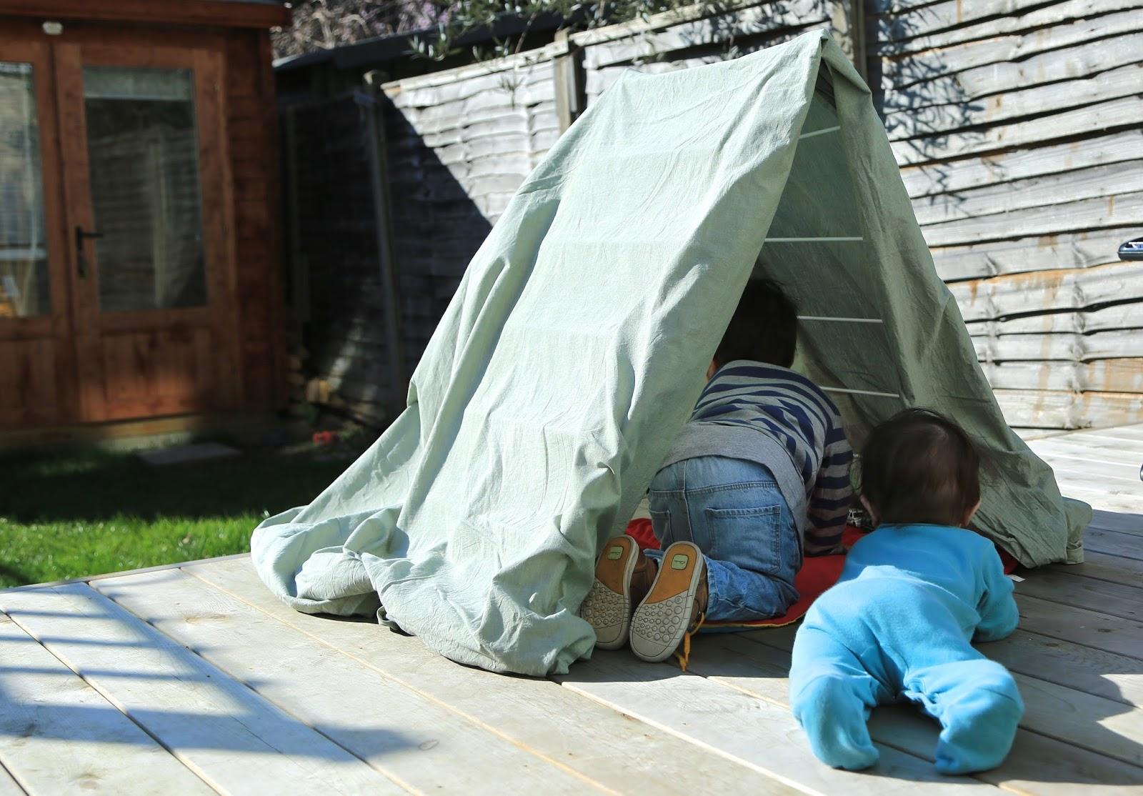 Diy Tent 2 Littlefaces Diy Clothes Horse Play Tent