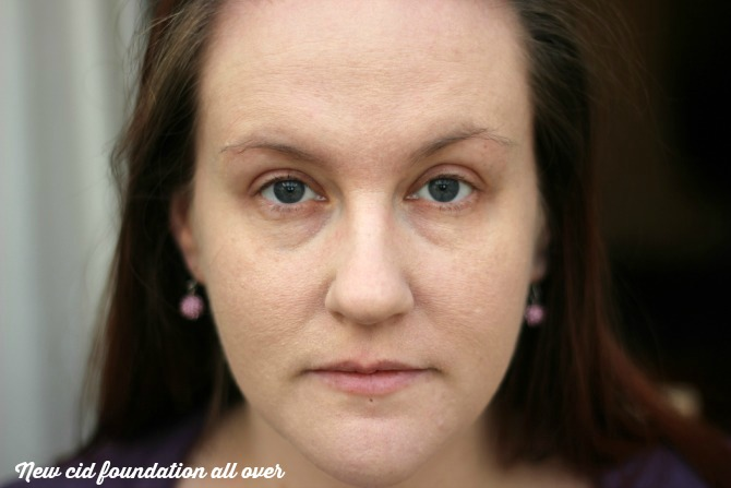 New CID i-perfection foundation all over