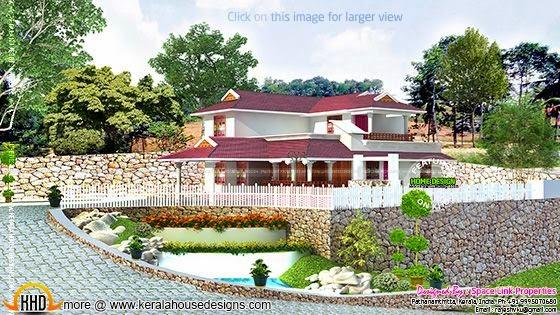 Kerala style house elevation