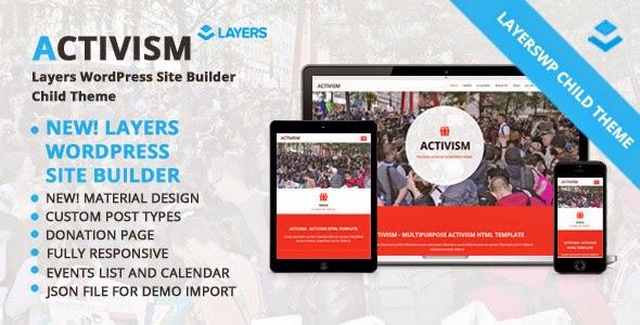 Activism - LayersWP WordPress Child Theme
