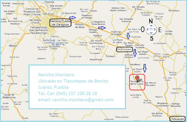 Localización del Rancho Montero, solicite una cita al cel. (045) 237 100 28 18