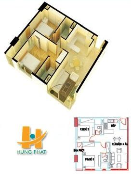 Căn hộ Hưng Phát, Căn hộ Hưng Phát diện tích 69.42 m2, can ho hung phat