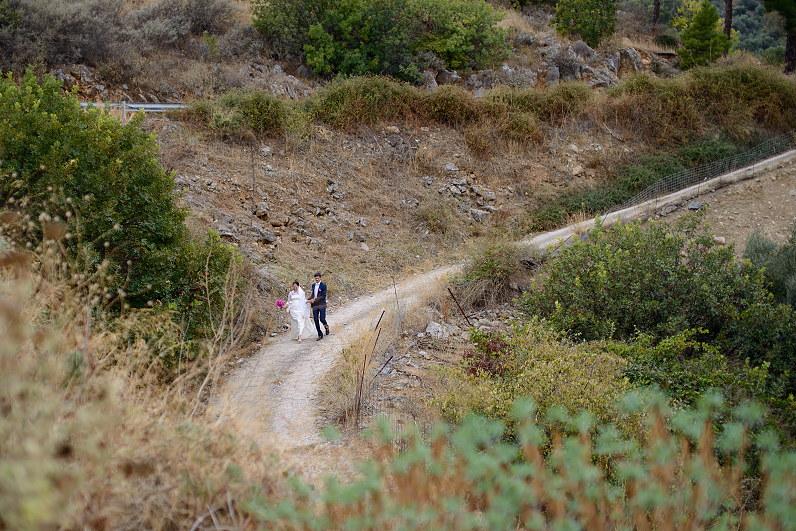 nuotabios nuotraukos iš vestuvių Graikijoje