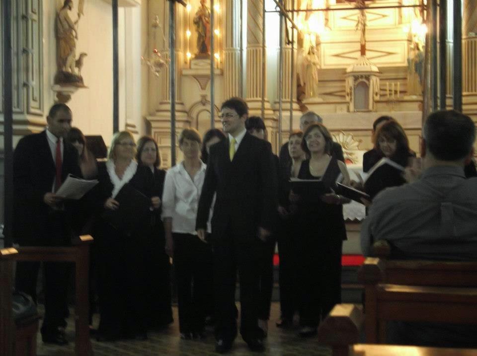 Coro Polifónico de Río Branco en la Iglesia Matriz de Jaguarón (Río Grande sel Sur - Brasil)