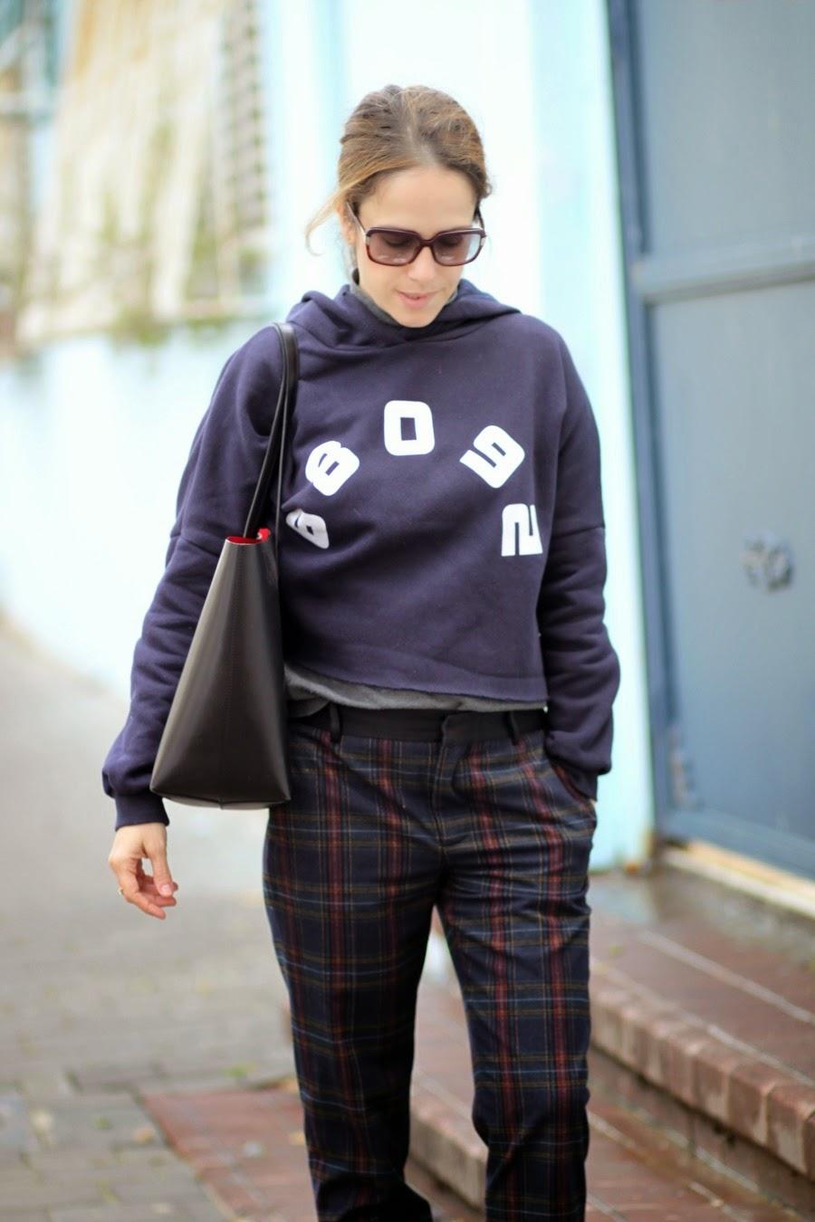 lookoftheday, fashioblog, fw, Isabelmarantbratsneakers, plaidprint, spring2015, streetstyle, אופנהבלוגאופנה,