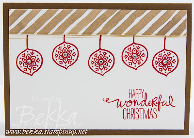 Christmas Card using Lighthearted Leaves from Stampin' Up! UK