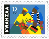 Synthia Saint James's stamp design 1996