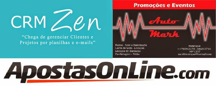 CRM Zen, Apostas Oline e Auto Mark Eventos