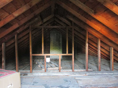 inside of small house attic