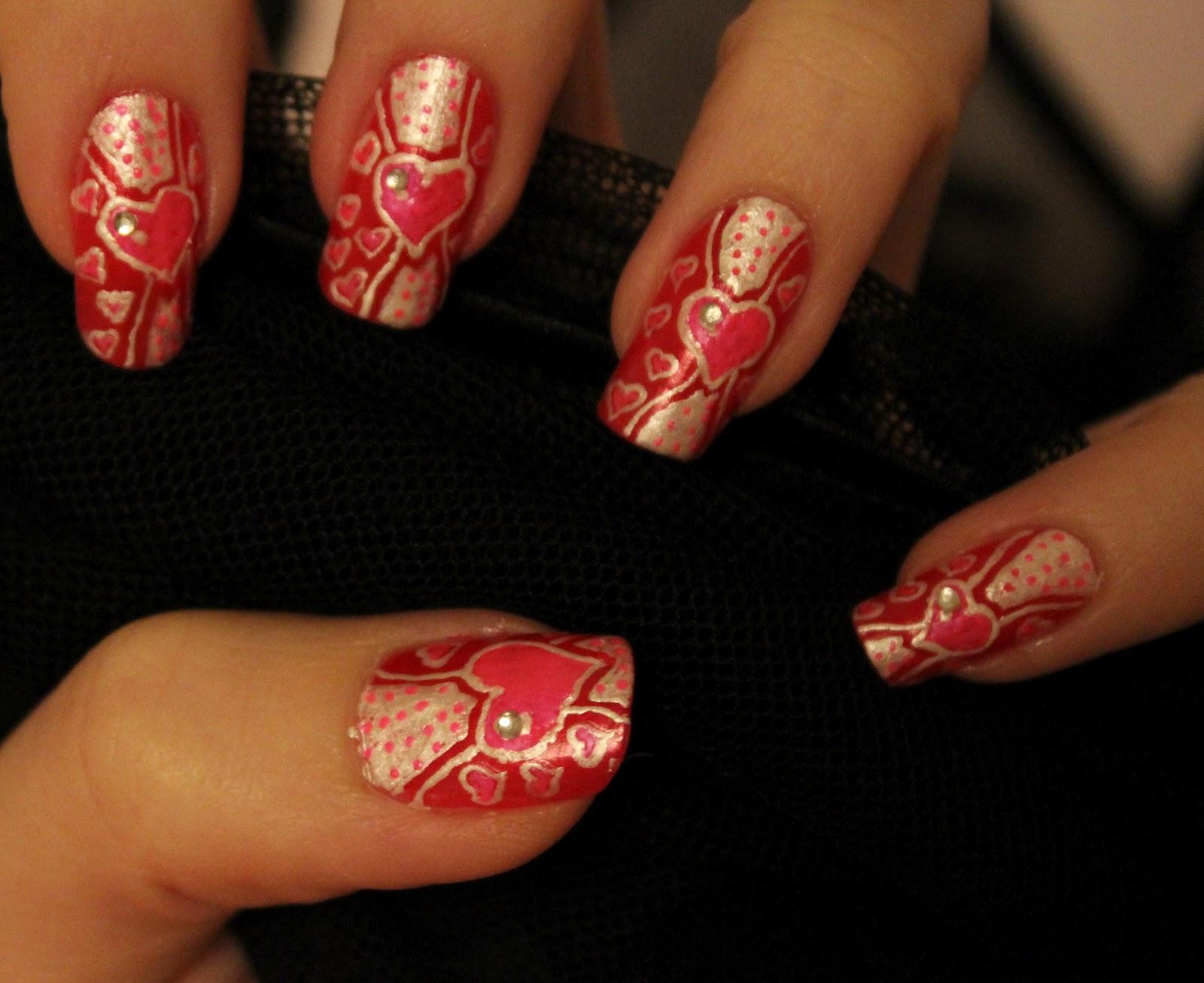 Дизайн ногтей ко дню святого валентина фото