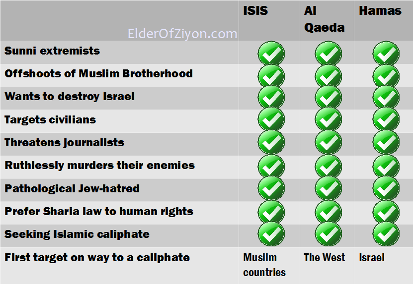 Lot of people have been comparing hamas to isis lately and hussein