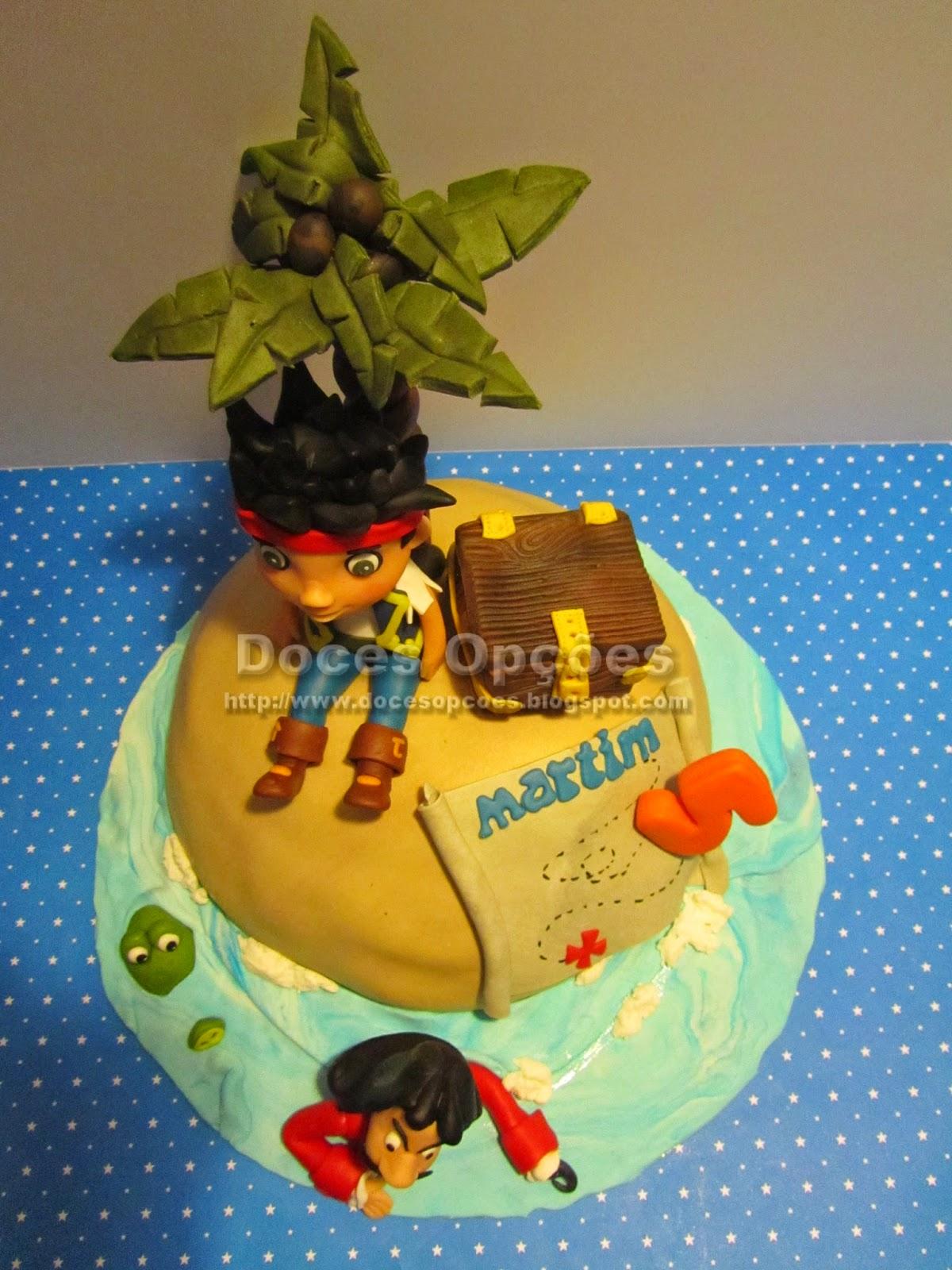 bolo aniversário piratas