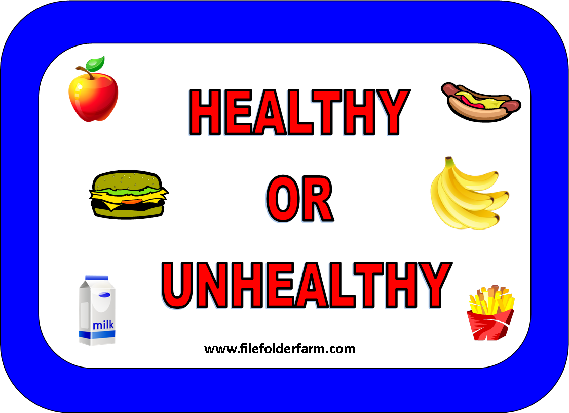 Healthy Food: Healthy And Unhealthy Food Worksheet