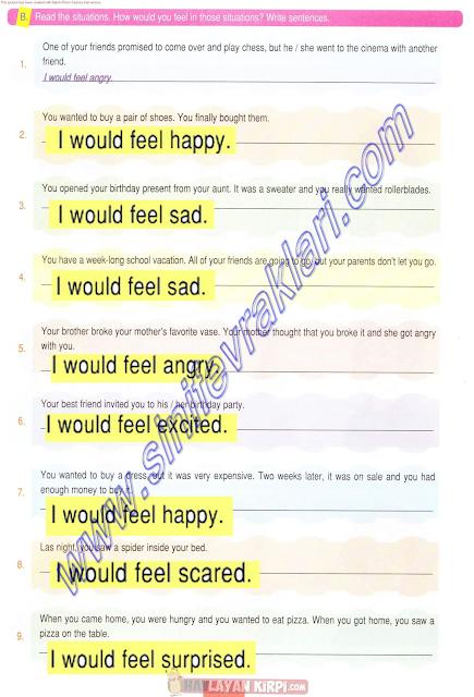 5.Sınıf İngilizce Çalışma Kitabı Cevapları
