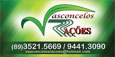 Vasconcelos Rações - Rua Pe. Reis, 234 - Entre o Frigotil e o Comercial Carvalho