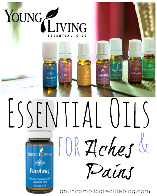 How to use essential oils to ease bodily aches and pains #essentialoils