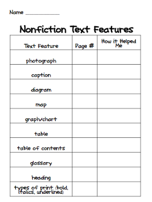 Worksheets Text And Graphic Features Worksheets iteach 11 nonfiction text features freebie feel free to grab this for by clicking the image below