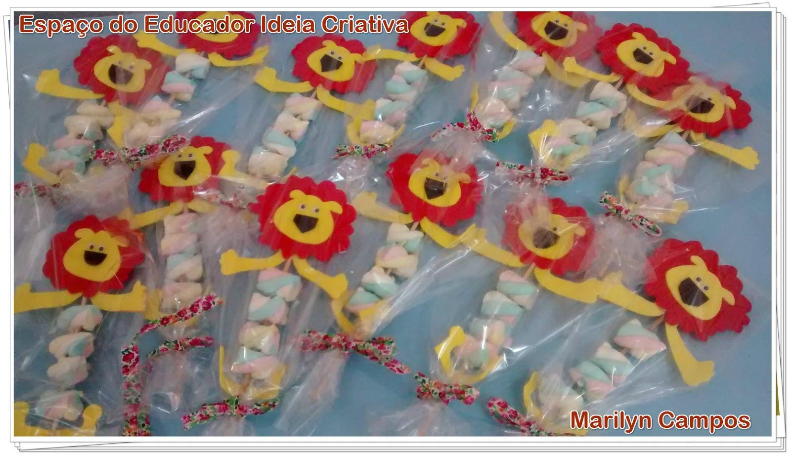 Lembrancinha Dia das Crianças Leãozinho de Marshmellow