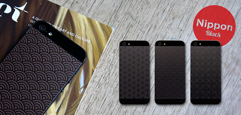 Phone Pop Nippon Black Vinyl Backs set for iPhone 5