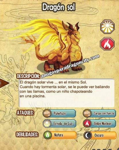 imagen de las caracteristicas del dragon sol