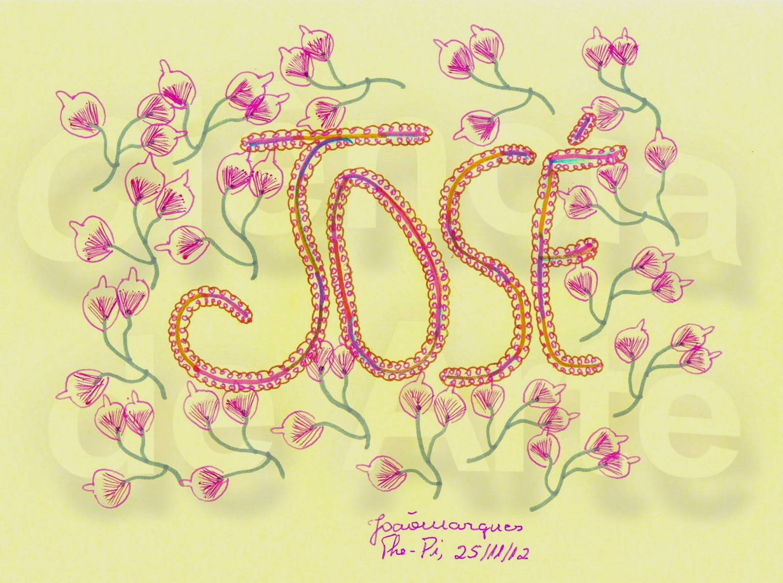 Nomes desenhados para perfil: José