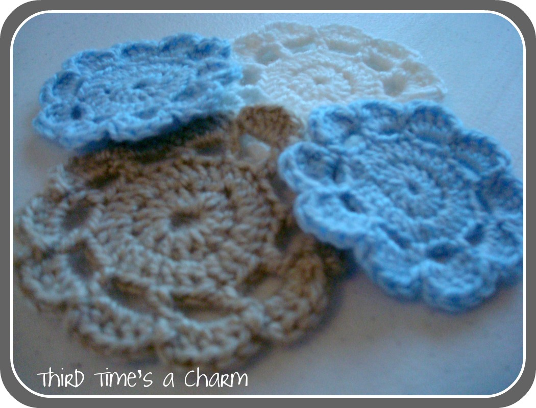 Third Times a Charm: Tutorial - Crochet Flowers