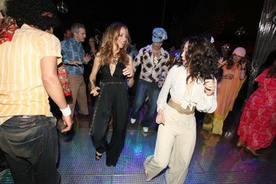 sandra oh kim raver kate walsh 70's glam rock disco dance party