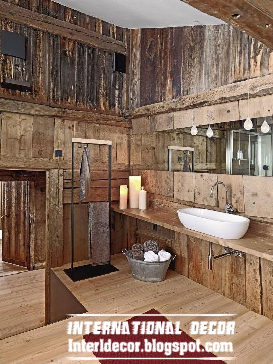 Best 15 wooden bathroom decorating ideas and designs photos - Rustic wall covering ideas ...