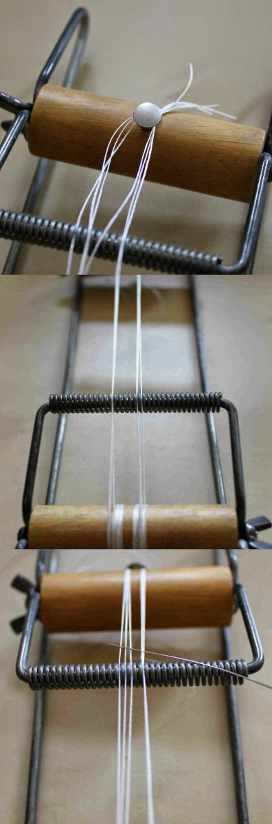 setting up a bead loom
