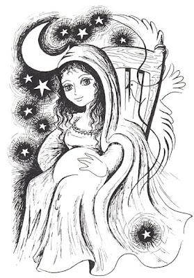 Virgen de la dulce espera Colorear